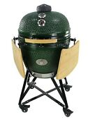 Ynni Kamado 25.2 Inch Grills And Bundles Bbq Ceramic Egg Twin Thermometer Lid