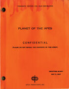 Planet Of The Apes May 5 1967 Shooting Script By Michael Wilson Rod Serling