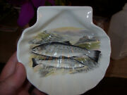 Portmeirion Compleat Angler V.rare Sewen And Sea Trout Shell-shaped Dish Vgc++