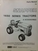 Snapper 1650a 1650 Series Riding Lawn Garden Tractor And Accessories Parts Manual