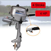 4 Stroke 4hp Outboard Motor Boat Motor 72cc Boat Engine W/water Cooling System