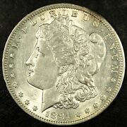1891 Cc Morgan Silver Dollar ☆☆ Almost Uncirculated ☆☆ Great For Sets 381