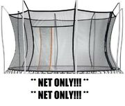 Thunder By Vuly Xl Replacement Trampoline Net Black/orange Net Only