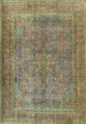 Antique Overdyed Tebriz Hand-knotted Area Rug Evenly Low Pile Wool Carpet 9and039x12and039