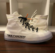 Off-white X Converse Chuck Taylor All-star Vulcanized The Ten Size 5.5 Sneakers