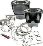 Sandamps Cycle 117 Big Bore Kit Wrinkle Black 910-0221 For Harley 2007-2017 Twin