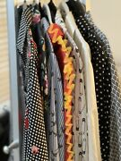 Express Portofino Huge Lot X 7 Business Blouse Button Up Long Sleeve Small