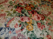 Classic Allison Floral Tablecloth 52 Square French Country Cottage