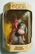 Sincerely Pooh Holiday Ornament Eeyore Piglet Christmas New In Box Box Damaged