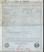 1963 Rambler American Station Wagon Indiana Title Signed Historical Document