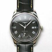 Unused Longines Master Collection L2.908.4.51.7 Automatic Black Dial Leather Men