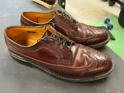 Florsheim Imperial Longwing Bluchers 93605 Color 4 Shell Cordovan Wingtips 8.5