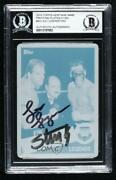 2015 Topps Heritage Wwe Printing Plate Cyan 1/1 Lex Luger Sting And 43 Auto