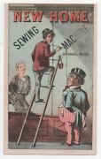 1890s Trade Card For New Home Sewing Machines With Uncle Sam Ithaca Ny
