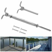 5x Stainless Steel Cable Railing Kits Fit 3/16 1/8 Wire Rope Outdoor Stair