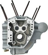 Sandamps Cycle T2 Engine Crankcases 4-1/8 Bore Silver Harley Touring 07-15