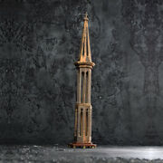 Late 19th Century Pine Steeple Architectural Model