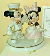 Mickey And Minnie Mouse Lenox Dancing Til Dawn Disney Figurines 24kt Accents Nib