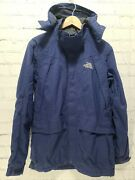 The Hyvent Jacket Menand039s Size Small S Sm Blue Hooded  A63
