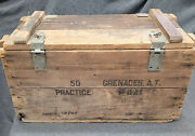Wwii 1942 Wooden Practice Hand Grenade Crate M11 A1 Ammo Wood Box U S Army