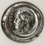 1985 Ngc Ms67 Two Planchet Bonded Die Cap Dime Mint Error Amazing Eye Appeal Wow