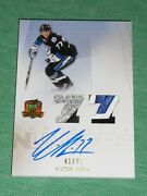 2009-10 The Cup Victor Hedman Auto 4clr Patch Rc 41/77 Rookie Honorable Numbers