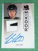 2009-10 The Cup Victor Hedman Auto 2clr Patch Rc 156/249 Rookie Conn Smythe Win