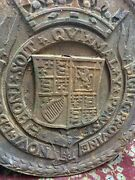 Antique 2 Cast Iron Seal Of The City Of New York Highway Marker 18 Across