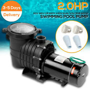 2hp 110-240v 6500gph In/above Ground Swimming Pool Pump 1500w Motor W/ Strainer