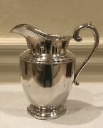 Antique Solid Sterling Silver Large Water Pitcher By Preisner 125. 3 1/4 Pints