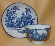 Caughley Blue And White Mother And Child And Bell Toy Teabowl And Saucer 1 C1776-90
