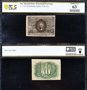 Amazing Choice Unc 2nd Issue 10 Cent Fractional Currency Note Pcgs 63 Free Ship