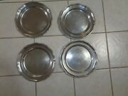 Wilton Armetale Queen Anne Glossy 12 Service Plates Set Of 4 Pewter