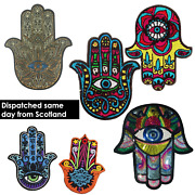 Iron And Sew On Embroidered Patches Bohemian Turkish Greek Hamsa Nazar Hand Evil