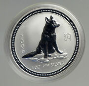 2006 Australia Year Of Dog Chinese Zodiac Old Proof Silver Dollar Coin I94562