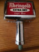 Vintage Rheingold Extra Dry Lager Beer Knob Tap Handle 1950and039s Metal Brooklyn Ny