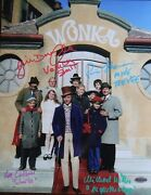 11andrdquo X 14andrdquo Outside The Willy Wonka Factory Photo - Autographed Signed By Four