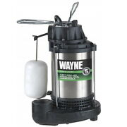Wayne 1/3 Hp 4600 Gph Stainless Steel Vertical Float Switch Ac Top Submersible S