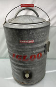 Vintage Igloo Galvanized 3 Gallon Drinking Water Perma-lined Cooler Dispenser
