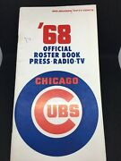 1968 Chicago Cubs Baseball Roster Press Tv Radio Guide And Schedule