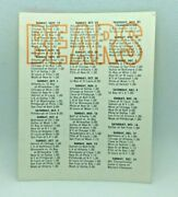1967 Chicago Bears And Nfl Football Schedule Chicago North Shore National Bank