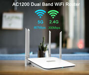 Ac1200 Wireless Router Dual Band 2.4g / 5g Wifi Gigabit Ports Internet Router