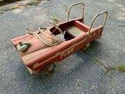 Vintage Amf Pedal Car - Fire Truck
