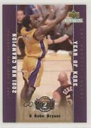 2001-02 Upper Deck Collectibles Lakers Back To Champions Kobe Bryant La20 Hof