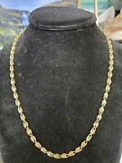Turkish Rope In 14 K Yellow Gold 20 Inches Long Weights 17.4 Grams