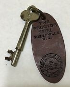 Antique The Proctor Hotel - Greenville, Nc Room Skeleton Key And Fob