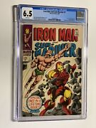 Iron Man And Sub-mariner 1 Cgc 6.5 White Pages Marvel 1968