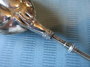 Gorham Lady's 1868 Serving Spoon Figural 3d Hand Coin Silver .900 Ribbon Mono