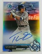 2017 Bowman Chrome   Refractor Auto 423/499   Tampa Bay Rays   Taylor Walls