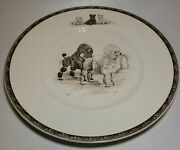 Vtg Wedgwood Non-sporting Dog Plates Poodles March Winds Marguerite Kirmse